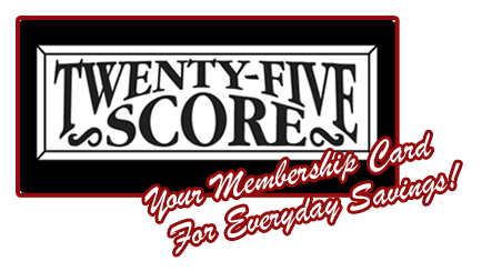 25Score Discount Card: Home