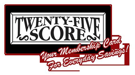 25Score Discount Card: Home