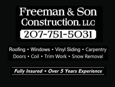 Freeman & Son Construction. LLC: Home