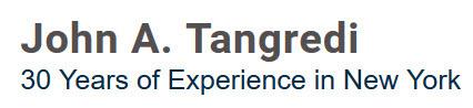 John A. Tangredi: Home