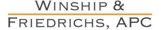 Winship & Friedrichs APC: Home