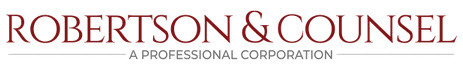 Robertson & Counsel, A Professional Corporation: Home