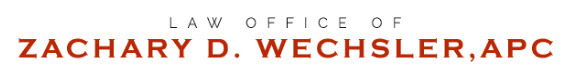 Law Office of Zachary D. Wechsler, APC: Home
