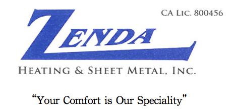 Zenda Heating & Sheet Metal, Inc.: Home