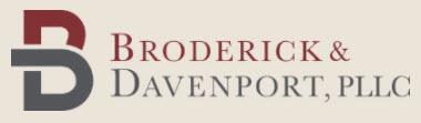 Broderick & Davenport, PLLC: Home