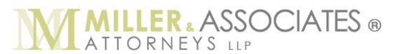 Miller & Associates, Attorneys LLP: Home
